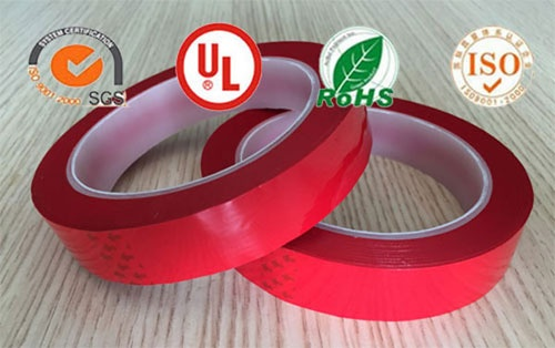Polyester (PET) film insulation mylar tape(red)