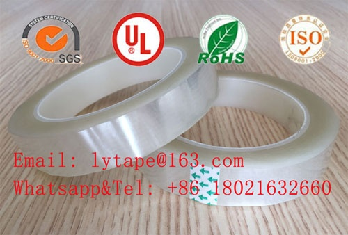 Polyester (PET) film insulation mylar tape(clear color)